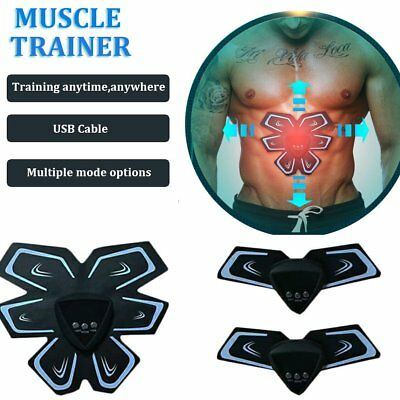 Abdominal USB Waist Body Muscle Massage Trainer Belts Rechargeable Training  P5