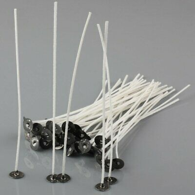 50pcs Candle Wicks 6 Inch COTTON Core Candle Making Supplies Pretabbed US Ship