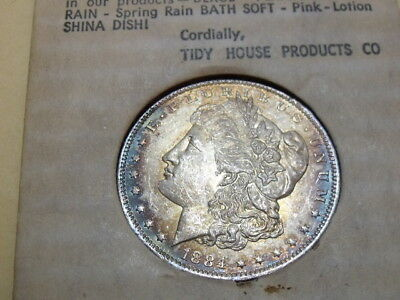 1884-O Morgan Silver Dollar BU++ with Superb COLOR, in TIDY HOUSE CARD envelope