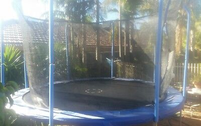 12ft outdoor trampoline with safety net buyer to dismantle 1 year old