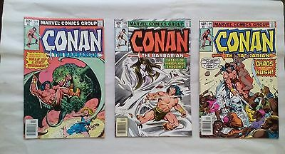 Conan the Barbarian comic book lot 6(Marvel,1970s)