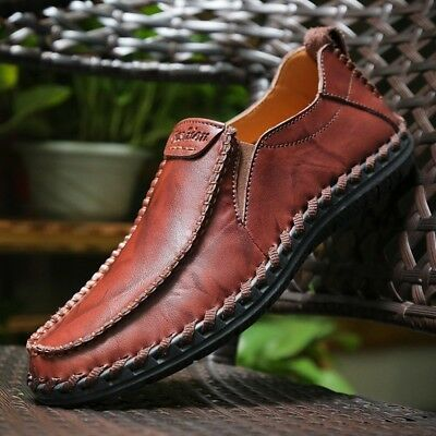 Men's Driving Casual Boat Shoes Leather Shoes Comfort Moccasin Slip On Loafers