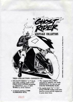 Ghost Rider Keepsake Collection #0 1990 FN- 5.5 Stock Image Low Grade
