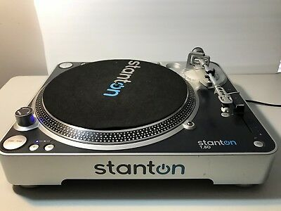 Stanton T.80 Turntable Direct Drive Record Player 33rpm 45rpm DJ with Line T80