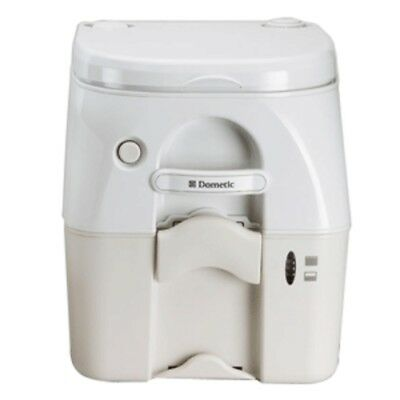 Dometic - SeaLand 975 Portable Toilet 5.0 Gallon - Tan w/Brackets