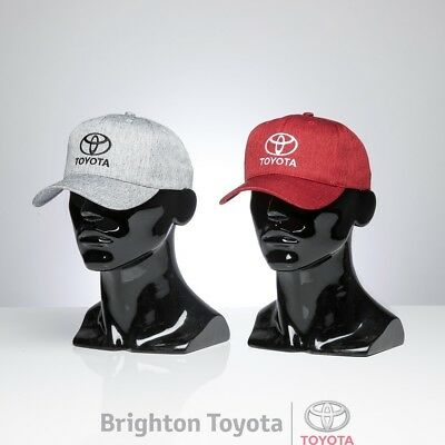 New Official Toyota Merchandise Toyota CAP RED OR GREY  Part TMTOY047