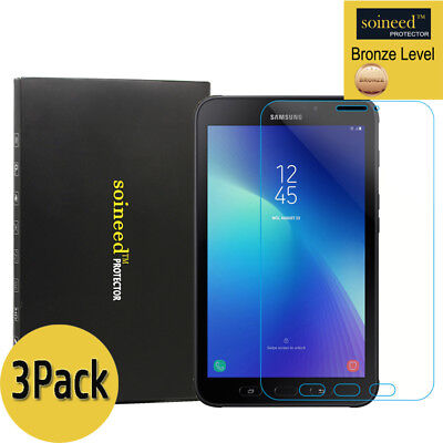"""[3-Pack] SOINEED Galaxy Tab Active2 8.0"""" T390 Tempered Glass Screen Protector"""