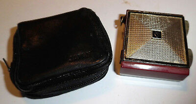 RAR !!Standard-Mini-Transistorradio-Japan-MICRONIC-RUBY-SR-G430-mit Ledertasche