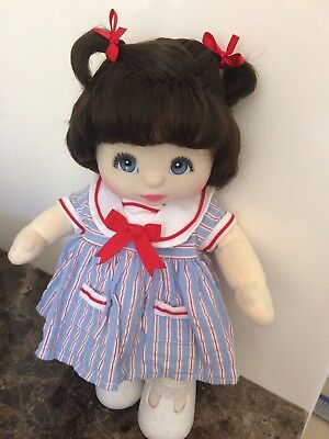 My child doll Brunette Double Top Knot (dressed In Vhtf Bitty Baby Sailor Dress)