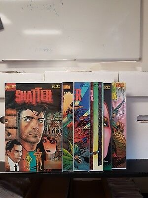 "Comic First ""Shatter #1 #2 # 3 #4 #5 #6"" 1985/1986 NM+"