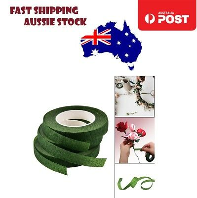 2pcs 12mm Green Parafilm Wedding Florist Flower Stem Wrap Floral Tape Waterproof