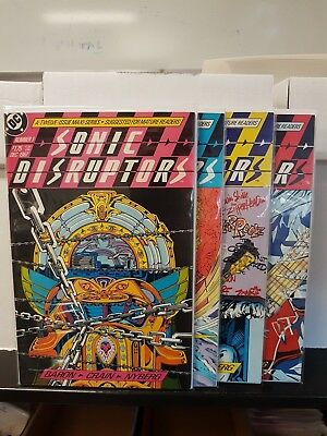 "Comic DC Sonic Disruptors  #1 #2 #3 #4  "" 1987/1988 NM+"