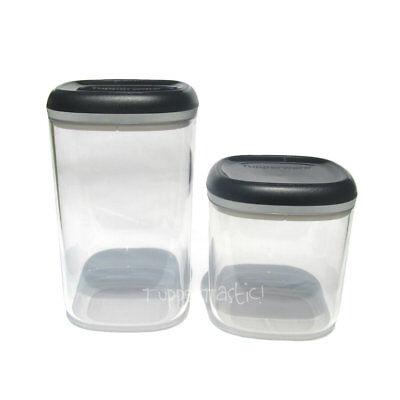 Tupperware NEW Table Collection Square Canister Pick a Size Black Clear