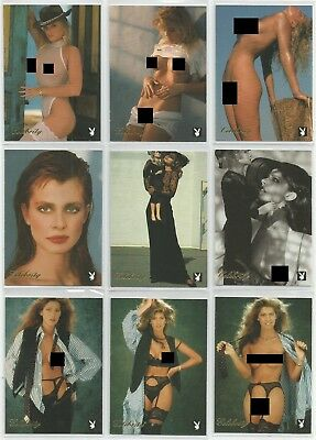 1995 Playboy Centerfold Coll. March Celebrity Gold Foil set of 9 insert cards