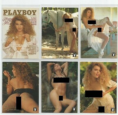 1995 Playboy Centerfold Coll. March Playmate Year Corinna Harney set 6 inserts