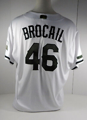 c7d9aa22818 2017 Texas Rangers Doug Brocai Game Issued Poss Game Used Memorial Day  Jersey