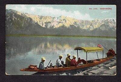 Postcard Edwardian Dal Lake Kashmere India nice R39515