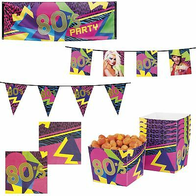 Boland 1980s Themed Party Tableware & Fancy Dress Decorations