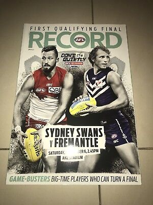2014 AFL First Qualifying Final Record - Sydney Swans v Fremantle