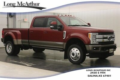 2018 Ford F-450 KING RANCH 4X4 CREW CAB POWERSTROKE TURBODIESEL DUALLY MSRP$79450 ULTIMATE TOW CAMERA, TOUGH BED SPRAY IN BEDLINER, 5TH WHEEL GOOSENECK HITCH