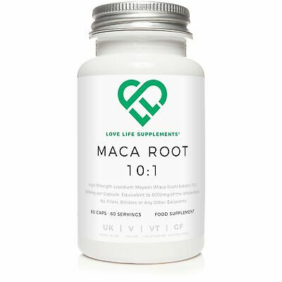 Maca Root High Strength Extract 10:1 | 5000mg per Capsule Whole Root Equivalent