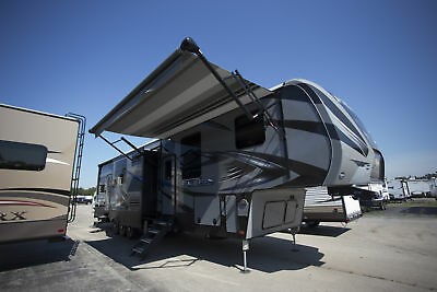 Lower Than Show Pricing 2018 Fuzion 4141 Toy Hauler 12 Ft Garage Camper Trailer