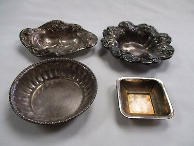 Vintage Sterling Silver Lot Of 4 Small Dishes- Reed & Barton Francis 1st +++ NR