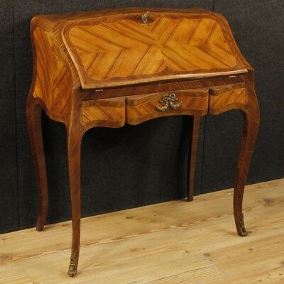 Bureau in wood furniture secrétaire desk French dresser bronze antique style 900