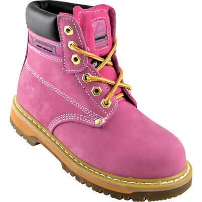 Sk21 Ladies Pink Safety Boots - Size 5