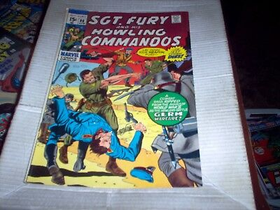 Sgt Fury And His Howling Commandos # 86 Ayers Art Germ Warfare Look Fn+