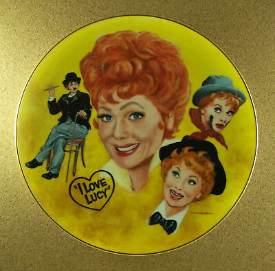 I LOVE LUCY The Lucille Ball Tribute Plate by Mike Hagel TV Series Number 1261