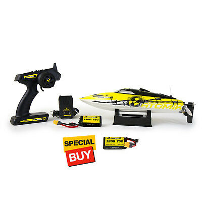 Atomik Barbwire 2 Self Righting 17 Inch RTR RC Racing Boat w/ Extra Battery