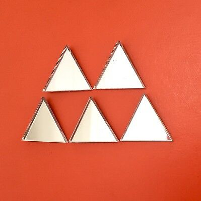 Pack of Triangle Craft Scrapbook Card Embellishment Wedding Deco Acrylic Mirrors