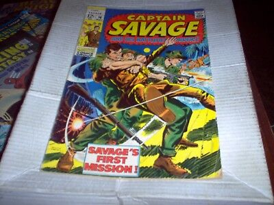 Captain Savage And His Battlefield Raiders # 14 Heck Art First Mission Look Fn-