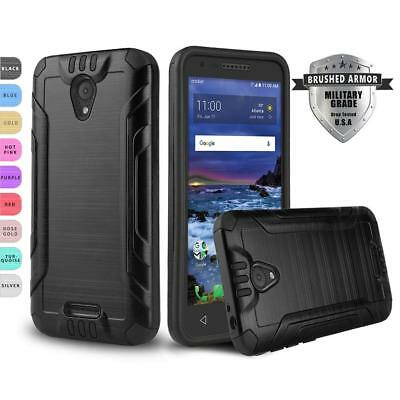 For [Alcatel Raven Lte] Phone Case [Brushed Series] Shockproof Defender Cover