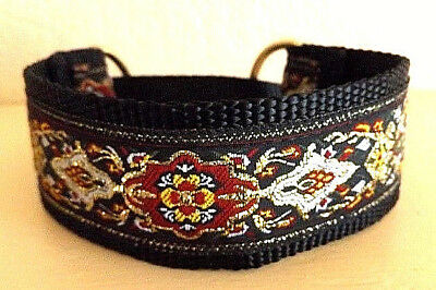 Metallic Gold, Yellow, Red and Green Premier Martingale Dog Collar