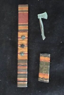 3 Vintage WWII Era Military Campaign RIBBON Bars 1 with 3 Stars