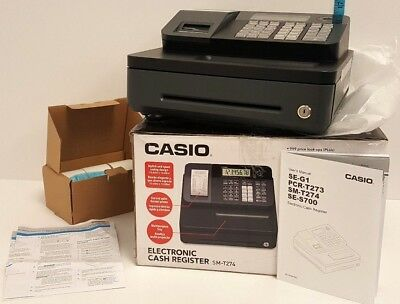Casio SM-T274 Electronic Cash Register, Black - FREE SHIPPING