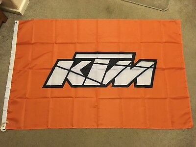 KTM Flag - Orange (Garage Banner Motorbike Motorcycle Freeride) 149x95cms