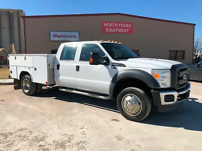 Ford F450 Crew Cab Utility Truck Runs Great And Super Nice Tons Of Storage Work