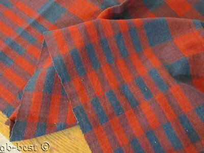 """EARLY c 1840-60s Coverlet Blanket Pc Homespun Prussian Blue Turkey Red 92"""" Woven"""