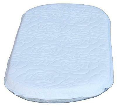 Colgate Bassinet Mattress 2-Inch Foam Pad Waterproof White Quilted Cover Oval
