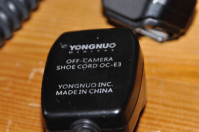 Yongnuo off camera TTL Flash hot shoe extension cable cord for Canon OC-E3