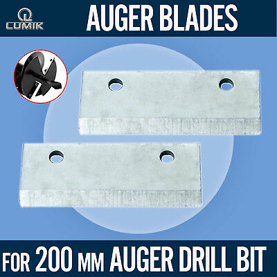 Replacement Blades for 200mm Drill Bit Auger Earth Borer Post Hole Digger