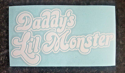 Daddys lil monster harley quinn suicide squad car window decal vinyl sticker