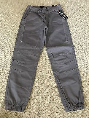 NWT Boy's LR Scoop Solid Steel Gray Moto Detail Jogger Pants ALL SIZES 8-18