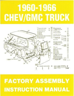 60 61 62 63 64 65 66 Chevy C10 Truck Factory Assembly Manual Restoration Guide