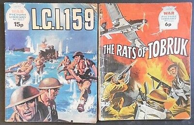 Vintage, War Picture Library Comics, x 2, from 1971 & 1979. Nos 690 & 1667