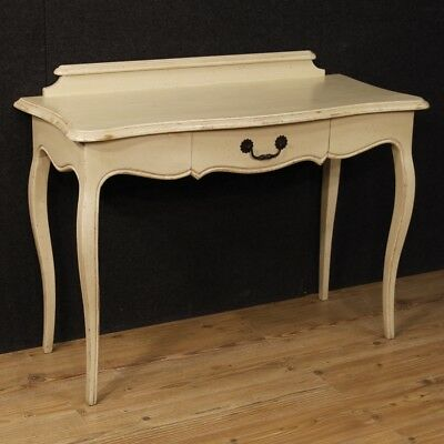 Console secretary desk painting furniture table italian wooden living room