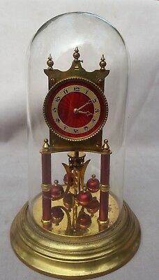 Excellent Red Dial Anniversary- 400 Day Clock, Kieninger & Obergfell, Guaranteed
